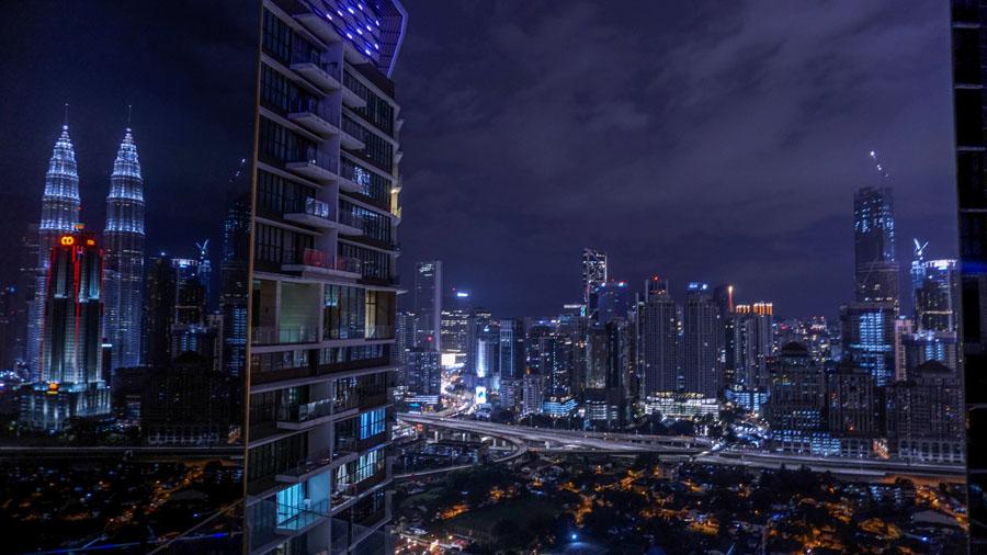 Kuala Lumpur - Petronas Towers - View from Setia Sky Residence