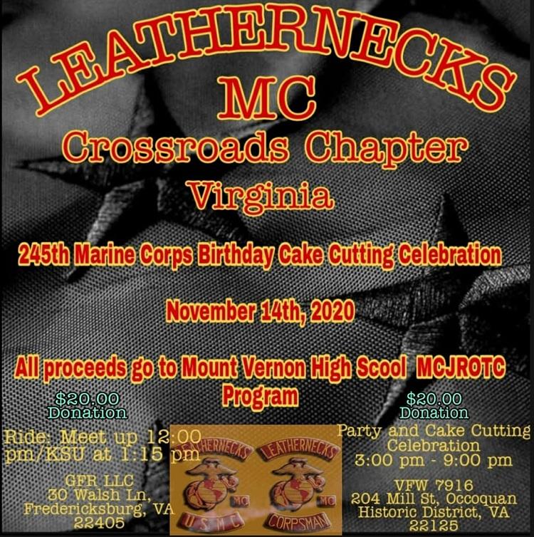 245th Marine Corps Birthday Cake Cutting Celebration Fredericksburg Virginia Lets Ride