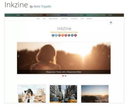 Inkzine — Free WordPress Themes