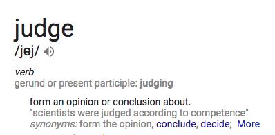 The Judging Blog