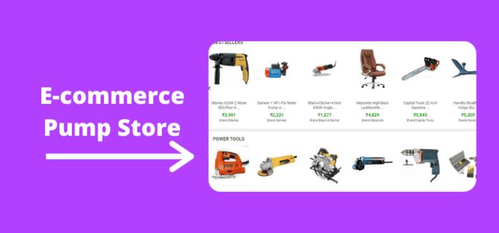 E-commerce Pump Store
