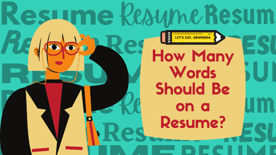 How many words should be on a resume