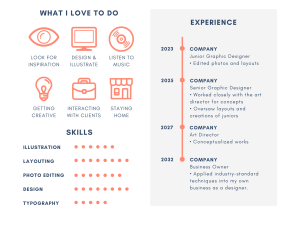 A partial image of a poorly designed resume template, illustrating the importance of simple design as an underappreciated resume trend for 2021.