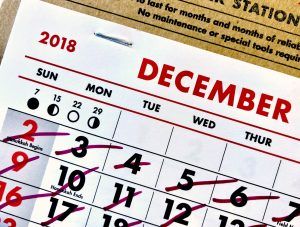 Calendar with days crossed out. Photo by Adam Tinworth on Unsplash