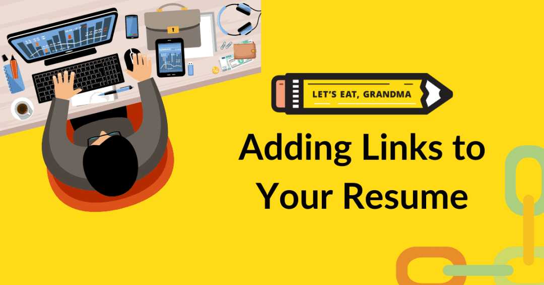 how to add links to resume