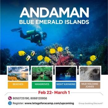 Andaman blue emerald islands