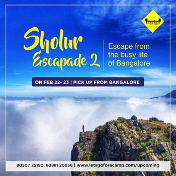 Escape from the busy life of bangalore and explore the sholur for trekking