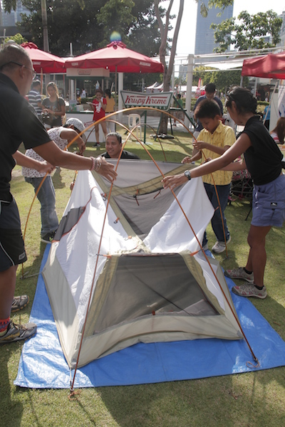 Great Escapes Tent Pitching