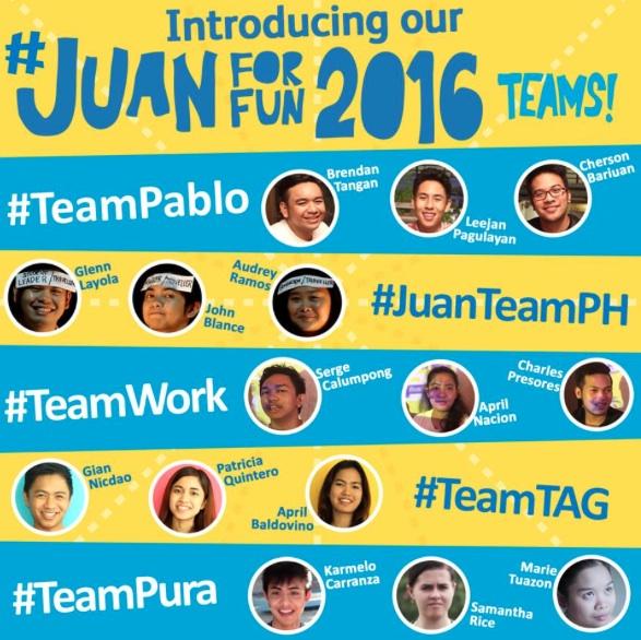 Juan For Fun 2016 Teams