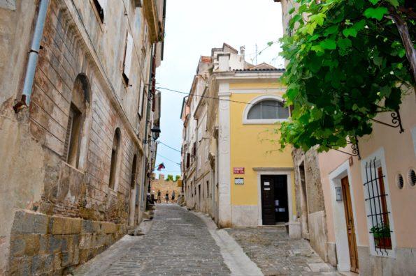 Piran old town street