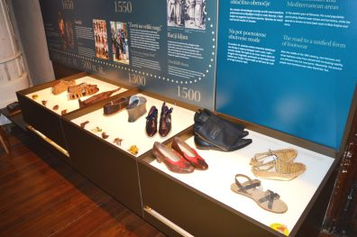 A range of footwear items was produced by the Tržič shoemakers.