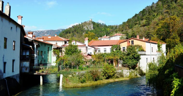 The Beautiful Town of Vipava in Vipava Valley, Slovenia