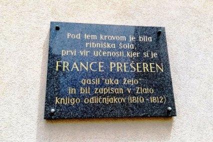 Poet France Prešeren went to school in Ribnica