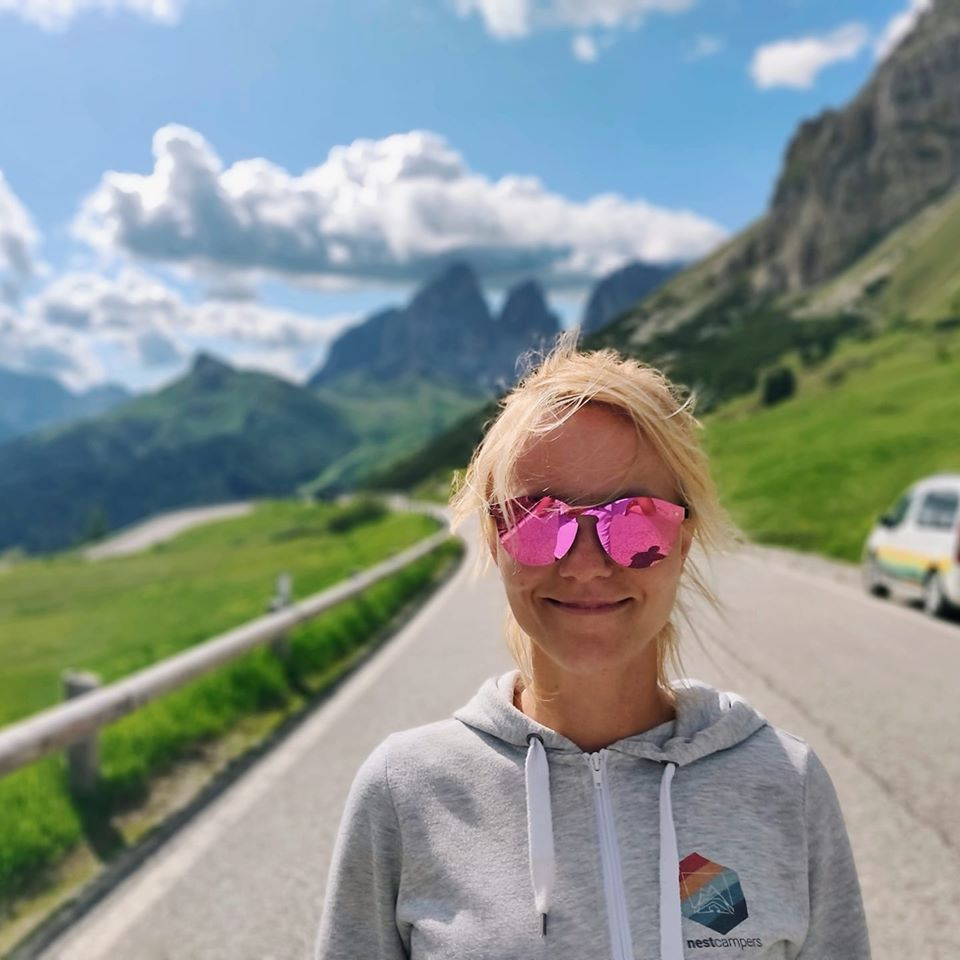"Nina Majcen of Nest Campers campervan rental: ""Stop, make yourself a nice cup of tea or coffee and enjoy the views!"""
