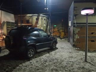 Paintbal ruimte met auto