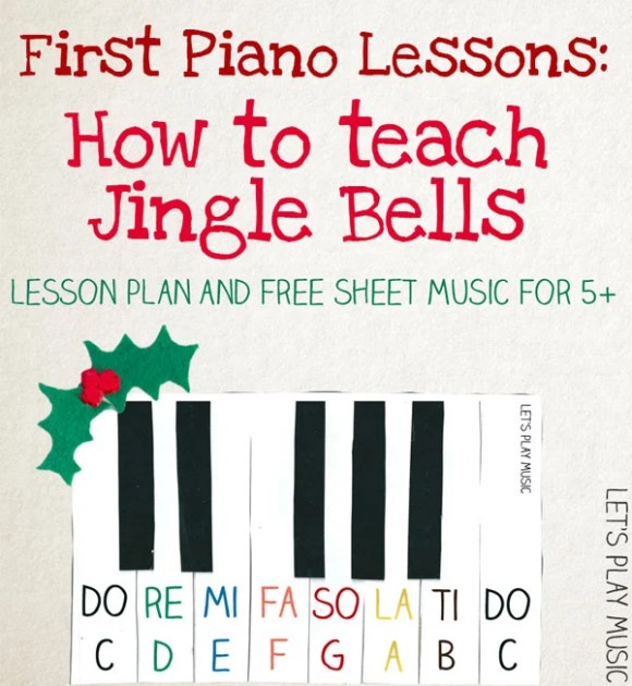 Jingle Bells Very Easy Piano Sheet Music - Let's Play Music