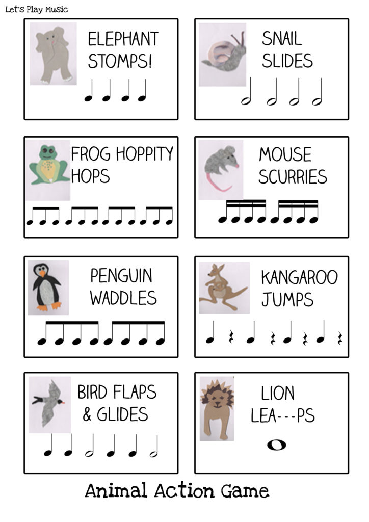 Animal Actions Rhythm Game Lets Play Music