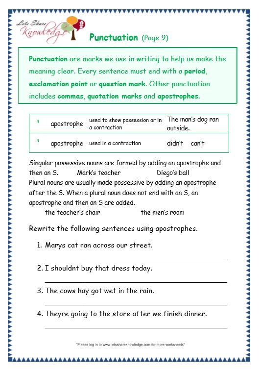 Grammar Worksheets Archives
