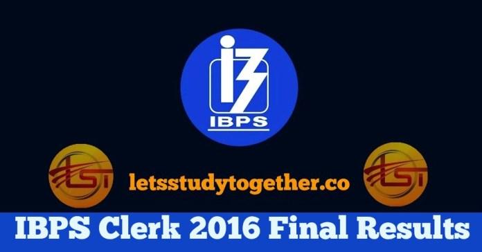 IBPS Clerk 2016 Result