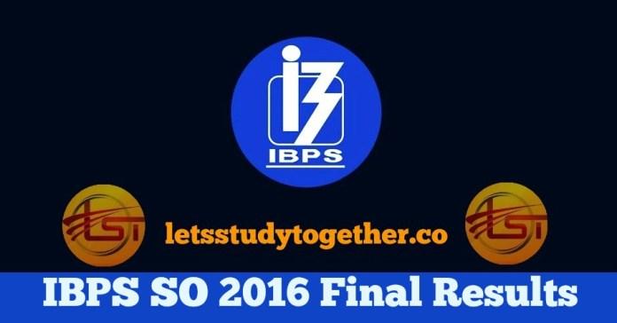 IBPS SO 2016 Result