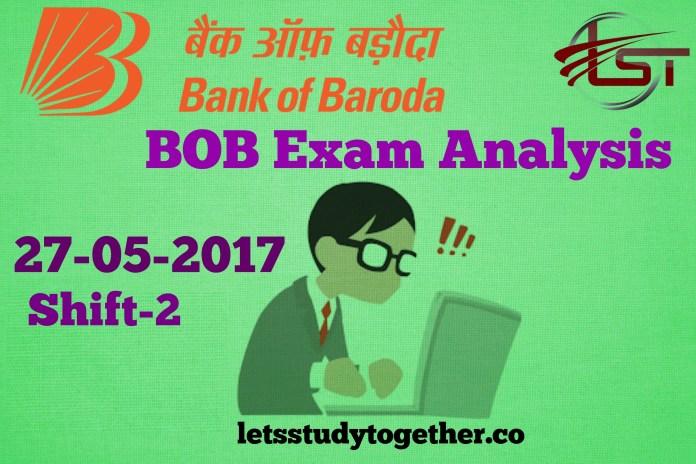 BOB Manipal Exam Analysis