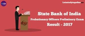 SBI PO Preliminary Exam Result