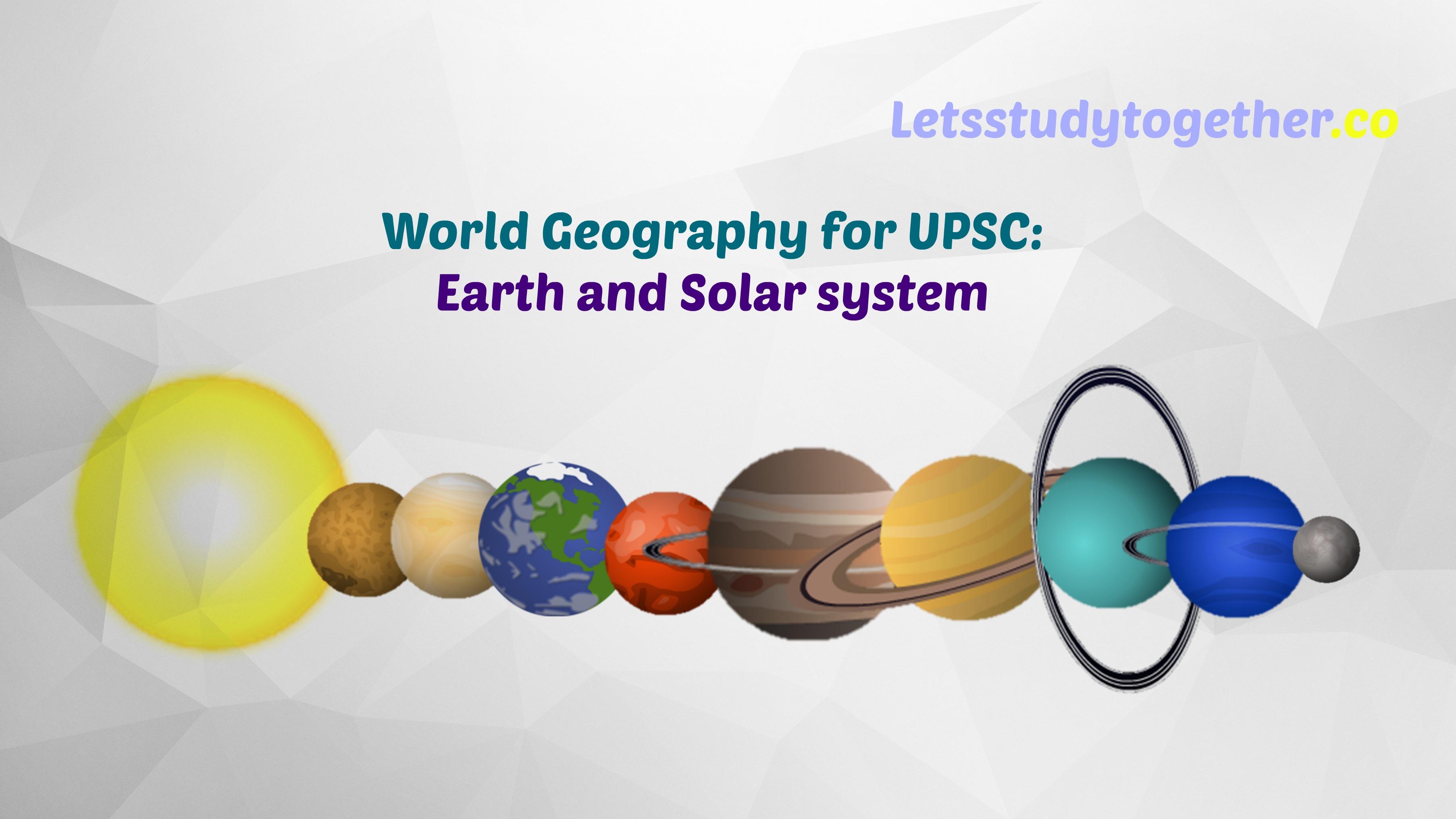 solar system upsc -#main