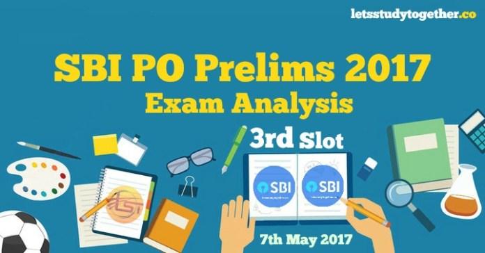 SBI PO Prelims 2017 Exam Analysis