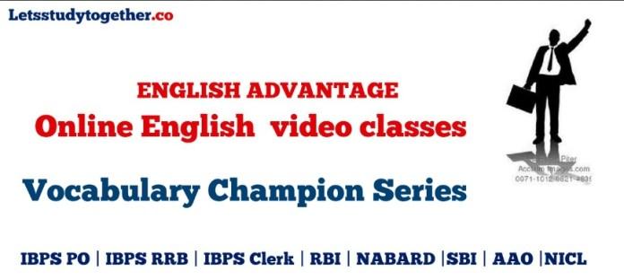 Online English video classes