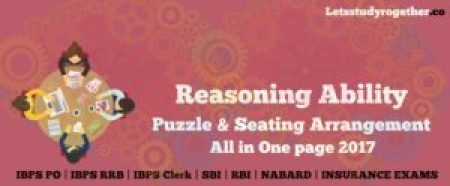 Puzzle & Seating Arrangement All in One page 2017