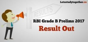 RBI Grade B Prelims Result 2017