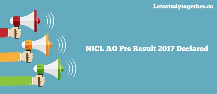 NICL AO Result 2017 Declared
