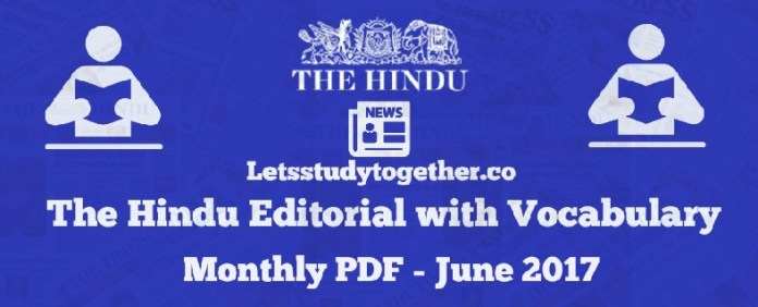 The Hindu Editorial with Vocabulary Monthly PDF