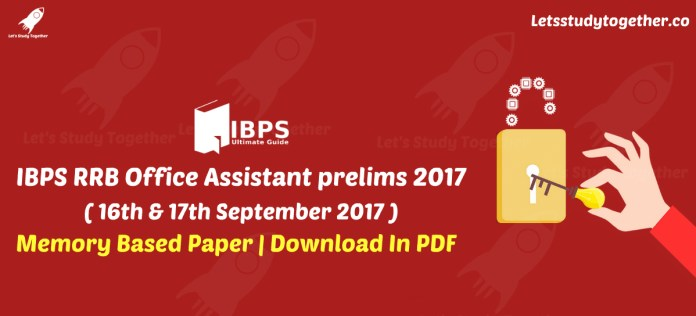 IBPS RRB Office Assistant Prelims Reasoning Memory Based Paper