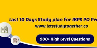 Last 10 Days Study plan for IBPS PO Prelims 2017