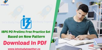 IBPS PO Prelims Free Practice Set Based on New Pattern