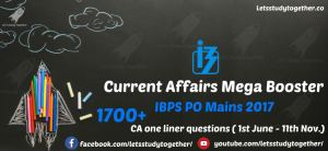 Current Affairs Mega Booster for IBPS PO Mains 2017