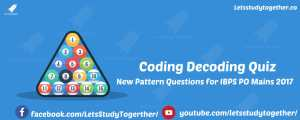 Coding Decoding Questions