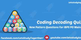 IBPS Clerk Mains 2017 | Coding Decoding Questions