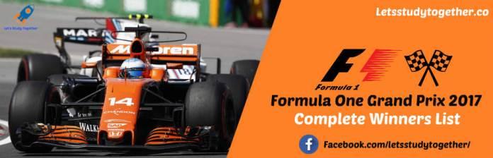 Formula One Grand Prix winners