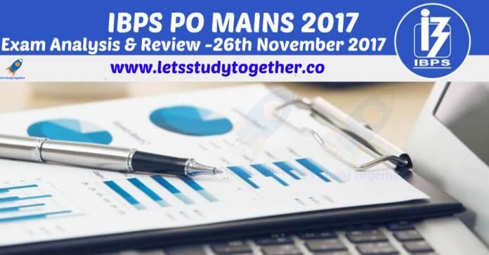 IBPS PO Mains Exam Analysis