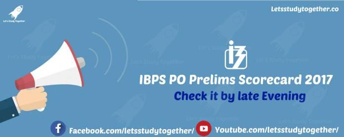 IBPS PO Prelims Scorecard 2017