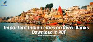 Indian cities on River Banks