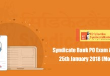 Syndicate Bank PO Exam Analysi