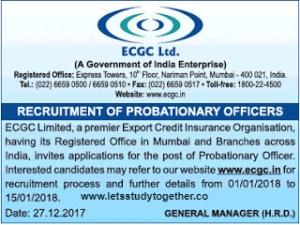 ECGC PO Recruitment 2018