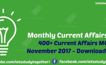 Monthly Current Affairs in PDF