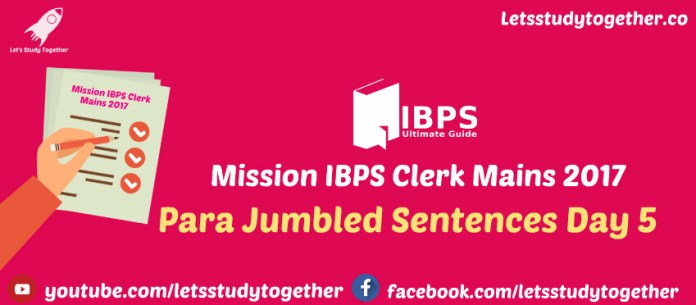 Para Jumbled Sentences
