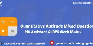 Quantitative Aptitude Miscellaneous Questions for IBPS Clerk
