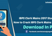 IBPS Clerk Mains Study Plan