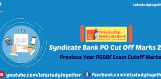 Syndicate Bank PO Cut Off Marks 2017